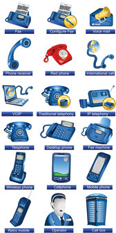 Communication Facilities Icons