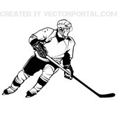 HOCKEY PLAYER VECTOR GRAPHICS.eps