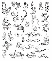 Vector Vintage Ornamental Design Elements