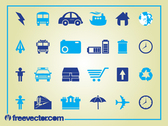 Blue Clean Icon Set