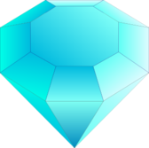 Blue Cut Gemstone (Saphire)