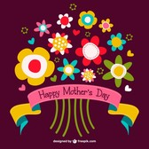Mother's day flowers bouquet free graphics