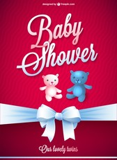 Baby shower vector free card