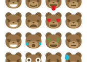 Bear Emoticon Vectors
