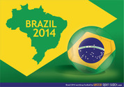 Brazil 2014 Worldcup football
