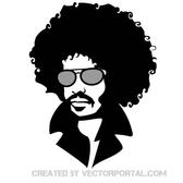 MAN WITH AFRO HAIR VECTOR.eps