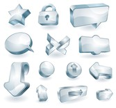 a clean glass icon