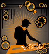 The trend of DJ music, a plate of