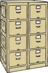 Double Drawer File Cabinet