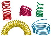 Free Vector 3D Coil Springs Illustrator