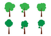 Simple Vector Tree Icons