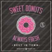 Sweet donuts blackboard template