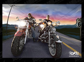 Drawing Realistic Harley-Davidson Family Of Vector Material Motorcycle Street Dusk