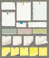 Sticky notes and scrap paper