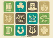Vintage Saint Patrick's Day Icon Set