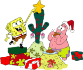 Christmas with spongebob & patrick PSD
