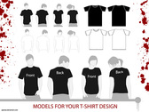 Free Vector Set: T-Shirt Templates