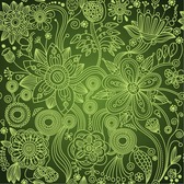Green Floral Seamless Background