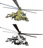 Combat Helicopters - Doe - Vector Vector Combat Helicopters The Doe