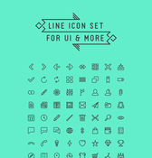 Linie-Icon-Set