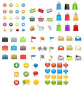 Large Set of Colorful Vector Web & Ecommerce Icons