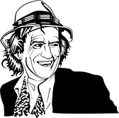 Keith Richards Vector Portrait