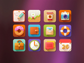5 O'clock Shades Icon Set