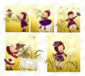 Scarecrow theme (South Korea iClickart Four Seasons cute gir