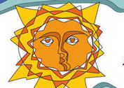 Stained Glass Sun Vectors