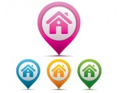 Free Stock. 3d vector home icon signage
