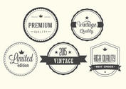 Free Vintage Vector Label Set