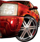 escalade wit rims PSD