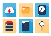 Big Data Square Icons Vector Pack