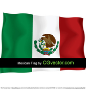 Mexico Independence Day flying flag