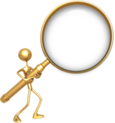 Gold Magnifying Glass PSD