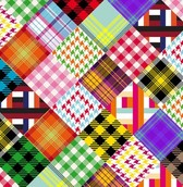 Totally Retro Crazy Quilt Vector Pattern