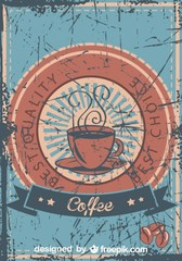 Vintage Best Quality Coffee Grunge Poster