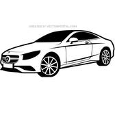 AUTOMOBILE MERCEDES VECTOR ILLUSTRATION.eps