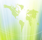 World Map Vertical Lines Abstract Background