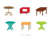 Table Flat Icons