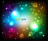Abstract Glowing Colorful Background Vector Art