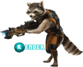 Rocket Raccoon GOTG PSD