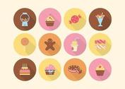 Free Cake And Sweets Vector Icons