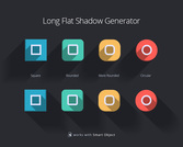 Long Flat Shadow Generator Psd