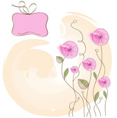 Flower hand-painted vector-4