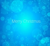 Christmas Blue Background Abstract