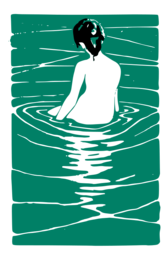 Lady in an Onsen with Background Removed
