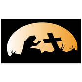 PRAYING AT THE GRAVE VECTOR.eps