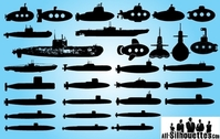 Nave sottomarina Pack Silhouette