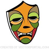 TRIBAL COLORED MASK VECTOR.eps